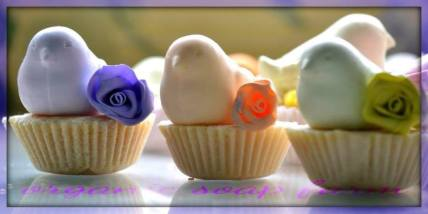partridge cupcake